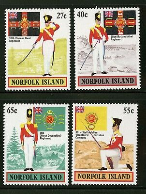 Norfolk Island   1982   Scott # 302-305    Mint Never Hinged Set