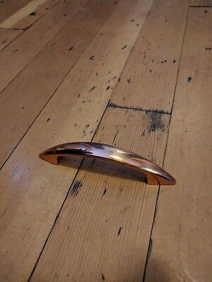 Vintage door drawer cabinet pull handle copper, 50's, MCM, retro, kitchen Merit