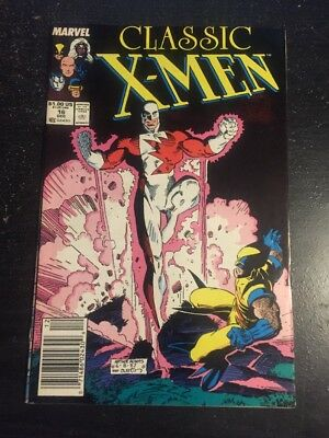 Classic X-men#16 Incredible Condition 9.0(1987) Guardian Battle,Art Adams Cover!