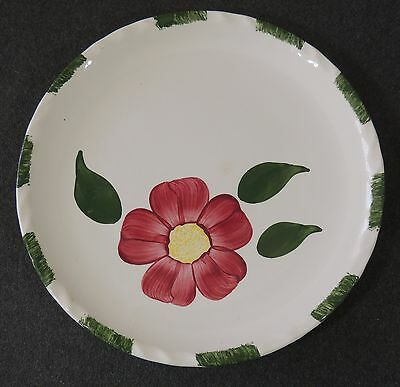 Blue Ridge Southern Potteries Red Flower Colonial Red Nocturne Dinner Plate