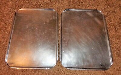 """2 Stainless Steel Restaurant Steam Table Pan Lids Covers 16 1/2"""" X 12 1/2"""" Wide"""