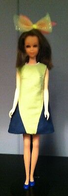 Francie Two Color Dress Vintage Mod Hand Made Any