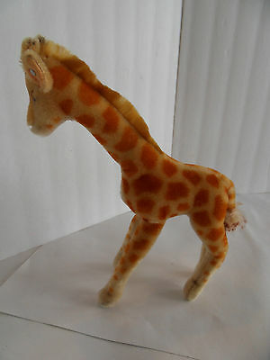 Steiff giraffe button mohair large  made in Germany 1492