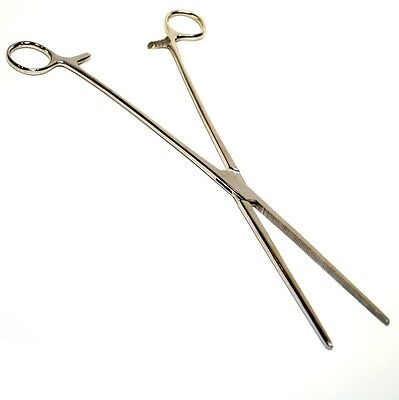 """16"""" Straight Hemostat Forceps Locking Clamps Stainless Steel"""
