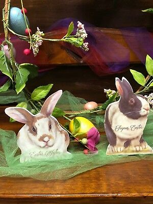 Bethany Lowe Mini Easter Bunny Dummy Boards (Set of 2) (BB7993)