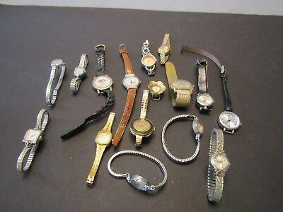 HUGE Lot of 16 Vintage Watches See Desc n Pics