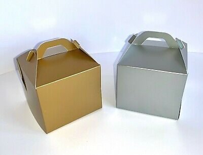 Single Cupcake Boxes ~~~ GOLD or SILVER ~~~ With or Without Window ~~~