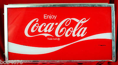 "Vintage ""Enjoy Coca-Cola"" Electric Light FRONT PANEL Soda Fountain Store Display"