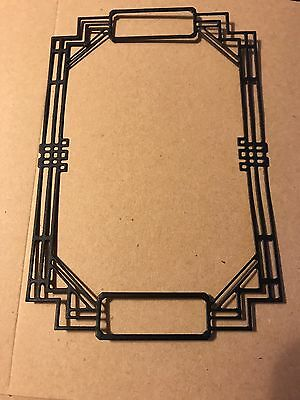 Die Cut: Tattered Lace Art Deco Frames, Set Of 4