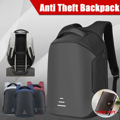 Anti-Theft Water Repellent Backpack USB Port Bobby Camera Laptop School Bag AU