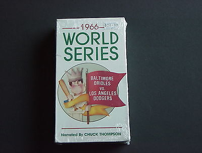 1966 World Series LA DODGERS vs BALTIMORE ORIOLES VHS Tape Narrated NEW OldStock