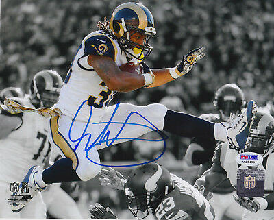 46b9a9dae Todd Gurley Signed 8x10 St. Louis Rams Photo - Spotlight Leap Close PSA/DNA