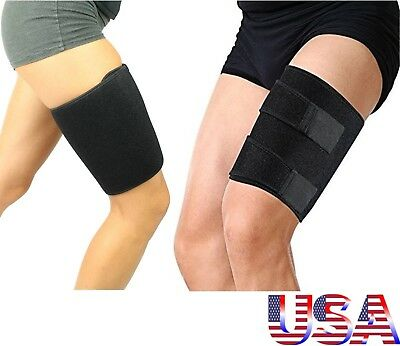 Thigh Support Compression Sleeve Brace Hamstring Wrap Groin Quad Leg Run Walk