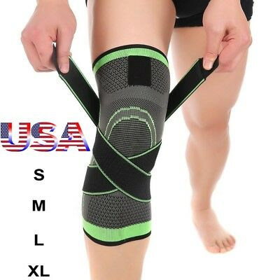 9fa4b71fe6 Knee Sleeve Compression Brace Patella Support Stabilizer Sports Gym Joint  Pain