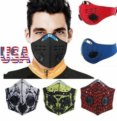 Workout Training Face Mask Cycling Dustproof Windproof Filter Breathing Mask USA