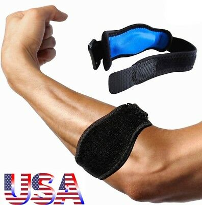 Elbow Support Compression Strap Brace Tendonitis Lateral Tennis Golfer Pain Band