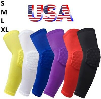 Arm Sleeve Elbow Pad Protection Compression Baseball Football Basketball Sports