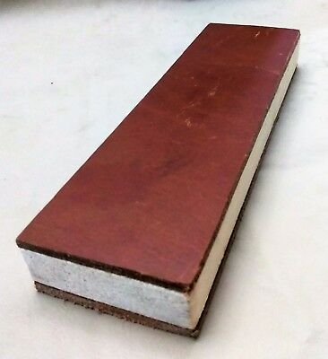 "9"" X 2.5"" Leather Sharpening Strop  two sided smooth and suede sides"