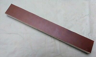 """12"""" X 2.5"""" Leather Sharpening Strop Double Sided, Smooth and Suede Sides"""