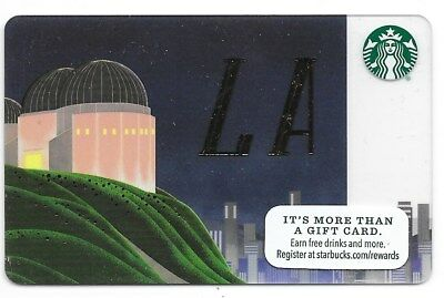"Starbucks City Gift Card ""Los Angeles Griffith Observatory"" 2015 Mint"