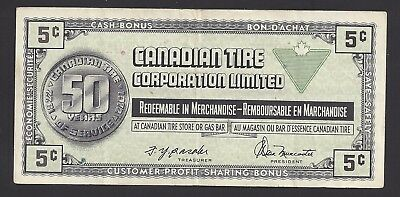 """""""VF"""" Canada Canadian Tire Money 5 Cents """"S0720013"""", #106-3"""