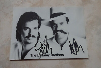 The Bellamy Brothers Autogramme signed 10x15 cm Postkarte s/w