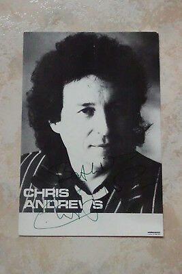 Chris Andrews Autogramm signed 10x15 cm Postkarte s/w