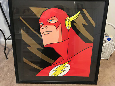 "Wb Store ""the Flash"" Squareface Litho Extremely Rare #117 Of 350 Framed!!!"