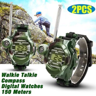 1pair Walkie Talkies Wrist Watches Intercom Set Electric Outdoor Army Game Toy