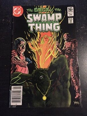 The Saga Of Swamp Thing#9 Awesome Condition 6.5(1983) Yeates Art!!