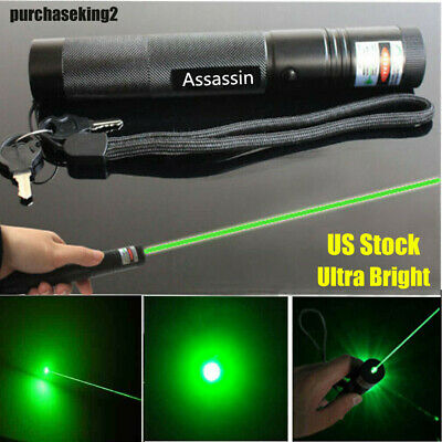 18650 Green Laser Pointer Pen Bright Rechargeable Adjustable Focus/Zoom Lazer US