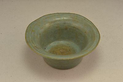 Vintage Handcrafted Green Glaze Pottery Dish    ND3528