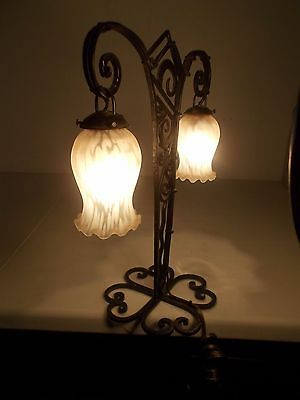 Art Deco French Style Wrought Iron Table Lamp