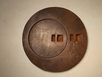 Cast Iron Wood Stove, Cover Lid Marked B-264 265 Lib Two Ring Cover