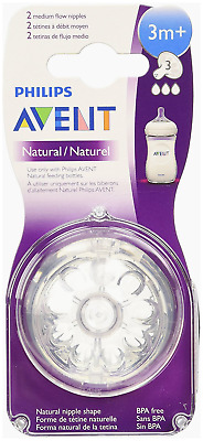 Philips Avent BPA Free Natural New Nipples First - Fast Flow 2 - 6 Pack 12 Sizes