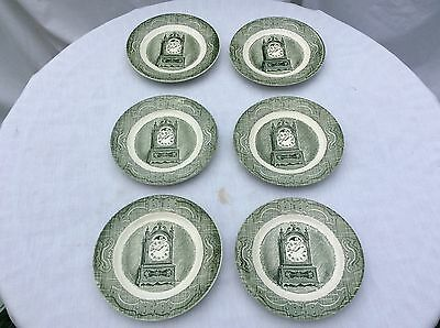 Vintage The Old Curiosity Shop Salad Plates - Set of 6