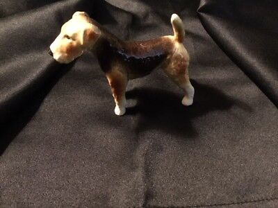 Vintage Goebel West Germany Airedale Terrier Porcelain Dog Figurine #3063509