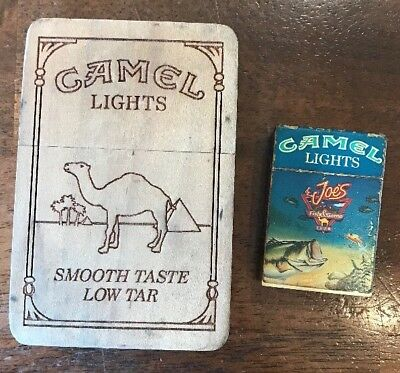 Vintage Camel Lights Collectible Tar Case + Joe's Fish & Game Club Lighter