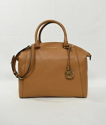 NWT! Michael Kors Riley Large Satchel/Shoulder Bag in Acorn with Gold Hardware