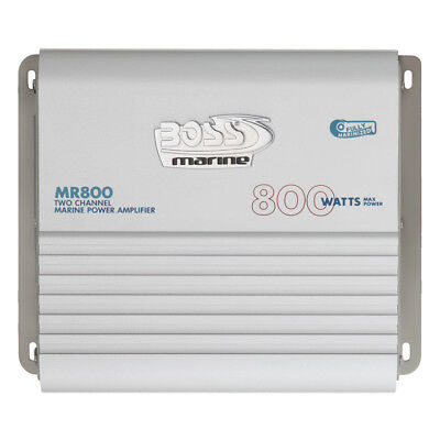 Boss Audio Marine Power Amplifier 2-Channel MOSFET Bridgeable #MR800