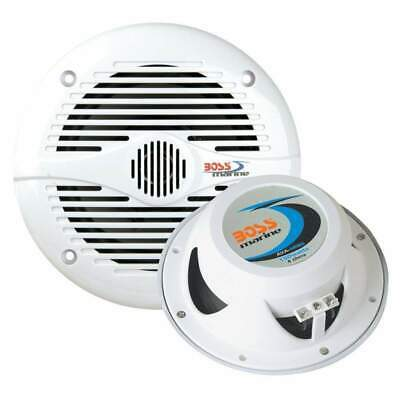 Boss Audio MR50W 5.25 inch Round White Marine Speakers #MR50