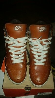 Nike Dunk Hi/High 2003 Premium Curry Brown Leather US 11.5 Sneakers Shoes