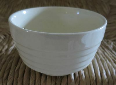 Vintage Ironstone Off White / Ivory Small Mixing Bowl Ribbed Surface