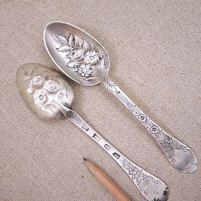 2 Lawrence Jones London 1700 Brittania Silver Trefid Rat Tail Spoon William III