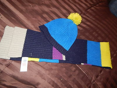 Boys Mini Boden Scarf and Hat Size 7/10 Years