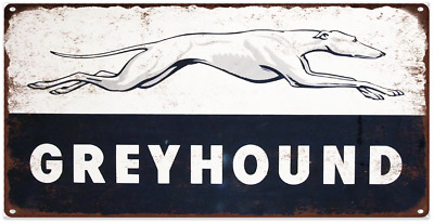 "Greyhound Bus Metal Sign Ad Repro  6x12"" 60225"
