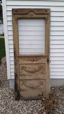 Antique Wooden Victorian Exterior Door
