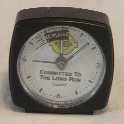 Obsolete ENCO Oil Company Alarm Clock EC Plates Working Great! See Pics
