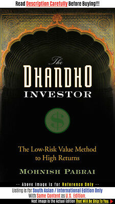 *FAST SHIP* - The Dhandho Investor: The Low-Risk Val, 1E by Mohnish Pa