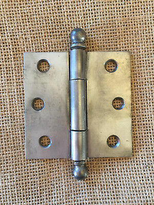 "Antique Simple Steel Ball Tip Door Hinge 3"" x 3"" Hardware"